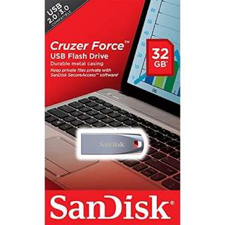 Brand new SanDisk Cruzer Force 32Gb selling at $15.90