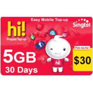 Easy prepaid singtel Data Plan