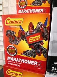 Century marathoner ns40 car battery ns40zl bateri kereta jazz city