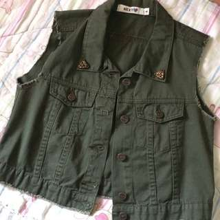NEXT ARMY GREEN VEST
