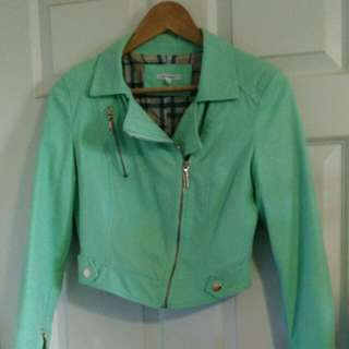 Light Green/ Turquoise Biker Jacket
