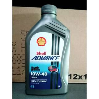 Shell ADVANCE ULTRA 4T 10W40 全合成機油(整箱12罐)