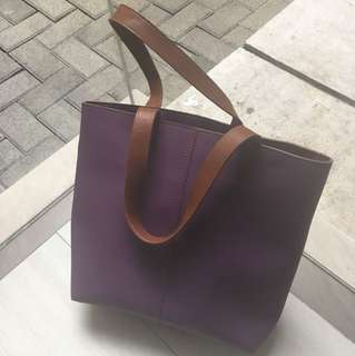 Tote bag ungu uk sedang