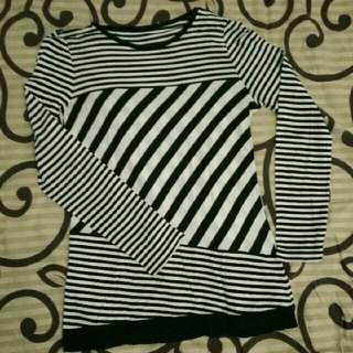 blouse stripe freeong