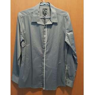 AT-20 Men Slim Grey Office Clothing