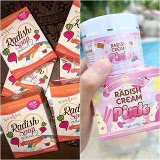 Radish Cream & Radish Soap Thailand