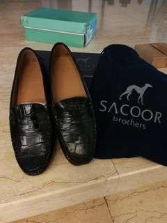 Sacoor Brothers Croc leather loafers EU40