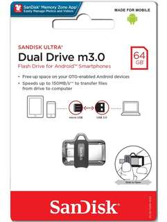 Brand new SanDisk Dual Drive 64Gb  m3.0 selling at $31.90