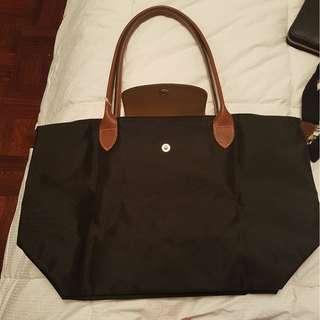 Black Longchamp La Pliage Tote Bag