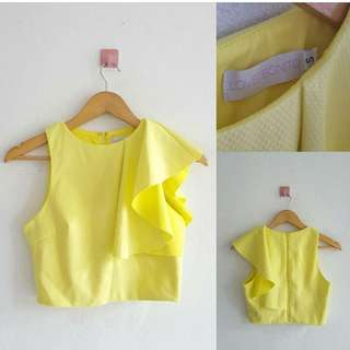 Crop top yellow lime
