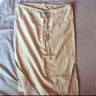 CHARLOTTE RUSSE Khaki Cargo Maxi Skirt