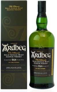 Ardbeg Ten (1000ML) Islay Single Malt whisky