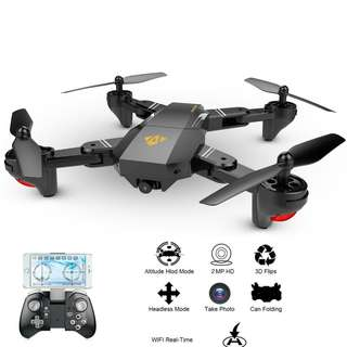 VISUO XS809HW WIFI FPV Headless Mode Foldable Arm RC Quadcopter RTF