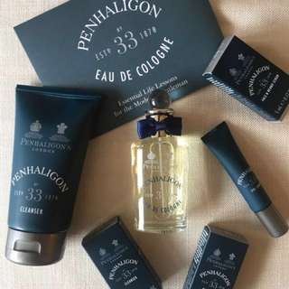 Penhaligon's Men Grooming Set with No.33 Cologne, Cream
