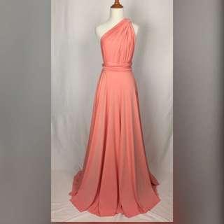Infinity Dress Salmon Pink color