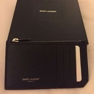 全新 YSL Saint Laurent Zip Pouch 散子包連卡片套