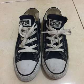 Converse all star blue navy uk 38