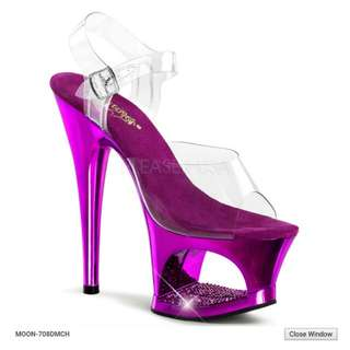 Pole Dancing Pleaser - Moon Purple Chrome