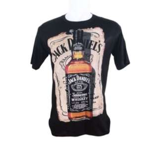 Kaos T-Shirt Distro Premium Jack Daniel - Hitam