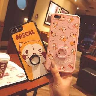 可愛萌浣熊iPhone 手機保護軟殼