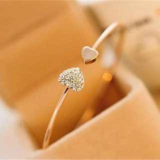 Women cute heart adjustable bracelet-fashion jewellery bracelet