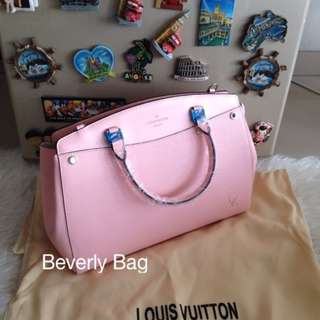 jual tas LV Brea Epi New Model LEATHER MIRROR - baby pink
