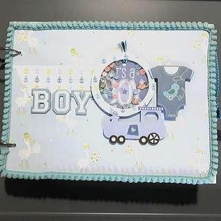 Handmade Baby Boy Photo Scrapbook