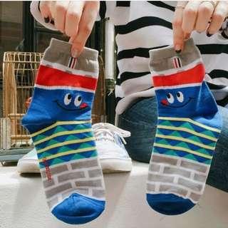 Korean Fashion Sock - Cola