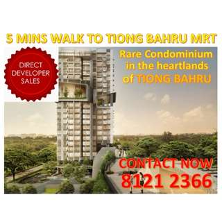 🌟RARE CHANCE to get hold of a Condominium unit in TIONG BAHRU!! 5 MINS WALK to Tiong Bahru MRT / Tiong Bahru Plaza! Explore the rich and nostalgia heritage of Tiong Bahru! MOST CENTRALISED AND AFFORDABLE LOCATION , MAXIMUM ACCESSIBLITY!!!🌟