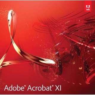 Adobe Acrobat Pro Professional XI