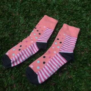 Kaos kaki motif bahan spandex kaos kaki cewe
