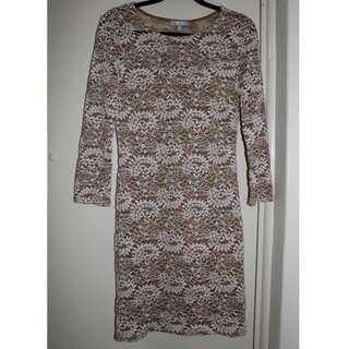 SES | Lace 3/4 Sleeve Lace Midi Dress