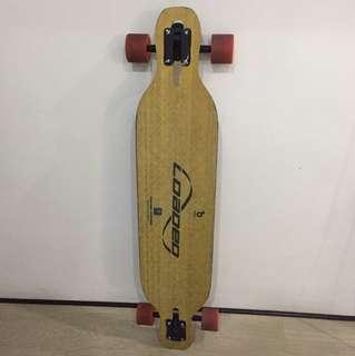 Loaded Dervish Longboard with Orangatang wheels