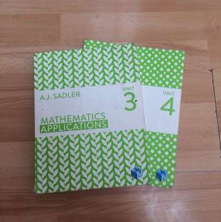 Maths applications units 3 & 4 by A.J Sadler,