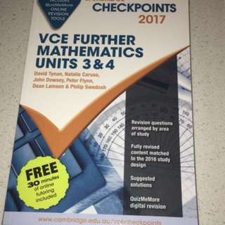 Cambridge 3/4 Further Maths Checkpoints Book