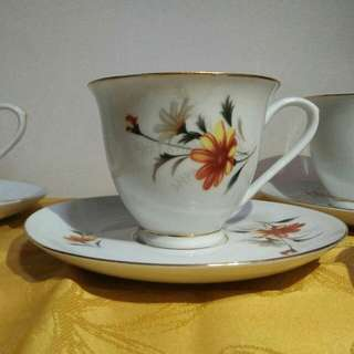 Floral Breakfast Porcelain Set