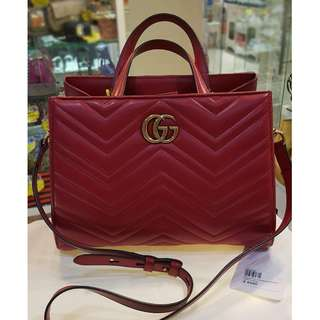 Gucci GG Marmont small top handle bag ✨ ✨接近全新 💛原價Over $16000 💵真心超值價$6980