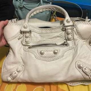 Balenciaga Paris white bag