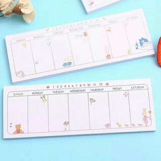 Weekly Planner Sticky Note