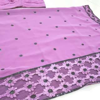 Purple saree with floral design #mcsfashion