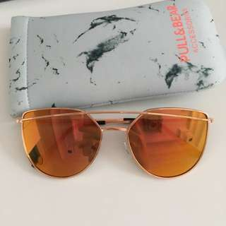 PULL & BEAR SUNGLASSES dual chrome pink-yellow rosegold rims