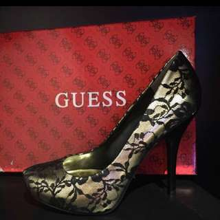 GUESS Black & Gold high heels