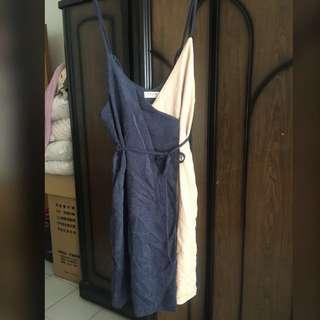 拼接造型洋裝