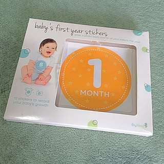 First Year stickers (record your baby's first years milestones every month)