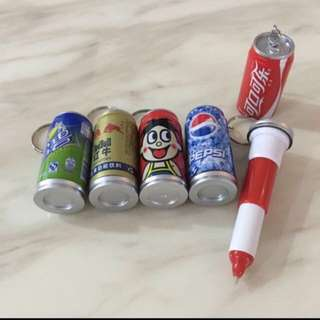 Goody Bag - Drink Can Pen With Key Chain