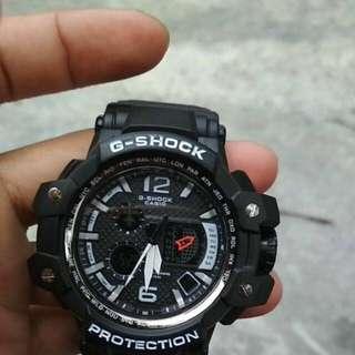 Jam tangan G-SHOCK GPW1000 hitam list putih
