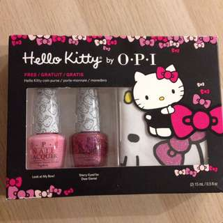 Opi hello kitty with coin purse
