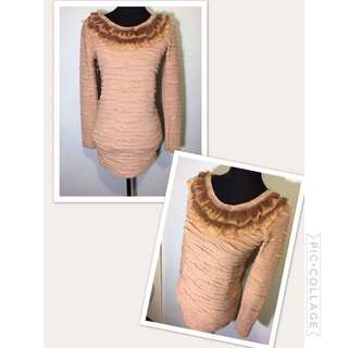 Long sleeve with fur collar
