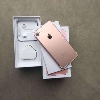 iPhone7 玫瑰金128gb