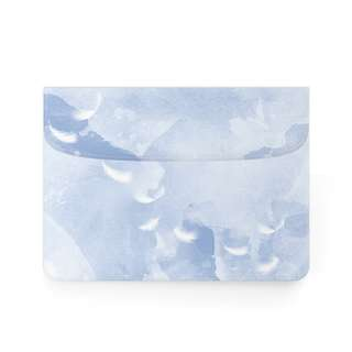 Light Pastel Blue White Feather Macbook Laptop Sleeve